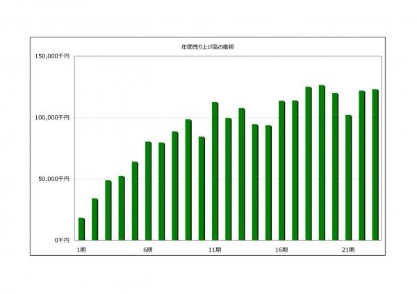 年間売り上げ高2014-08-2